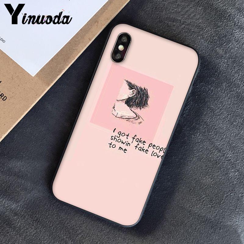 Yinuoda, розовый, эстетический, песни, лирика, эстетический, мягкий силиконовый чехол для телефона, чехол для iPhone 8, 7, 6, 6 S, 6 Plus, X, XS, MAX, 5, 5S, SE, XR, 10 - Цвет: A9