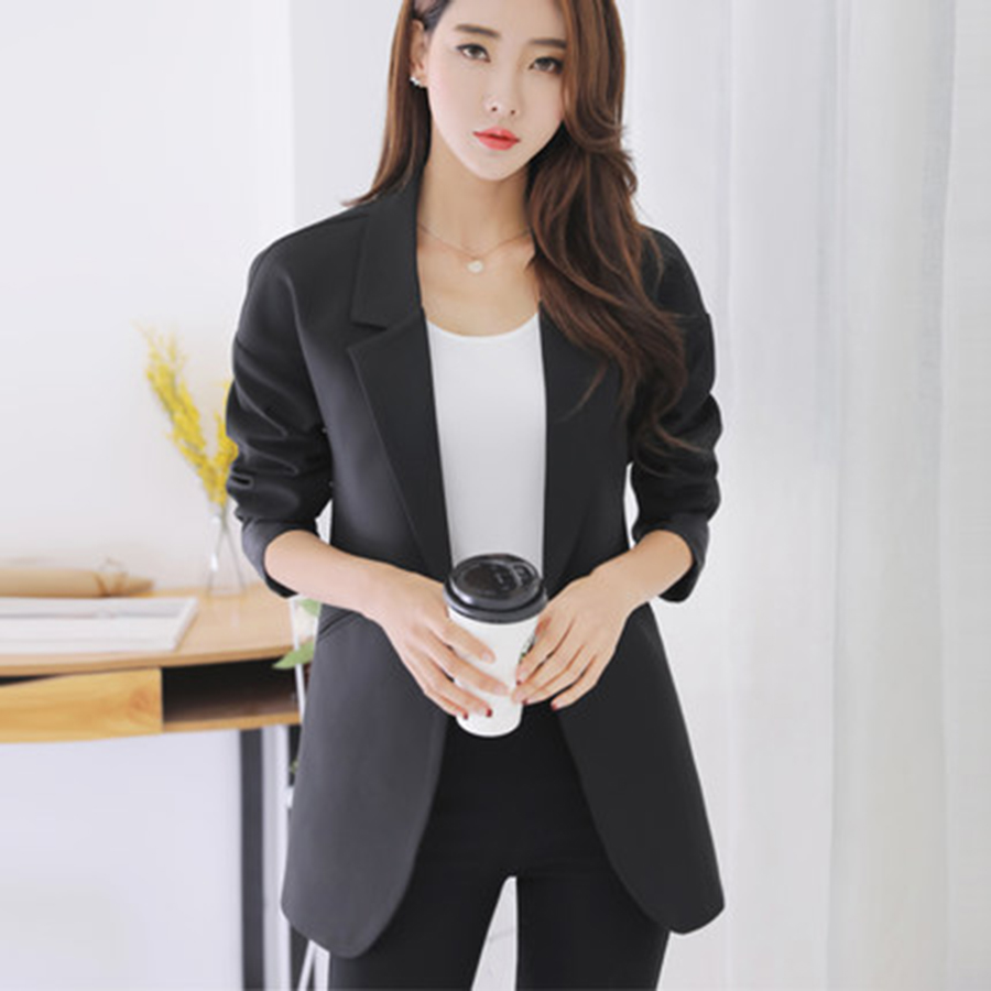 Plus Size Casual Slim Women Jacket Blazer Female Business Suit Female Jackets Elegant Bleiser ...