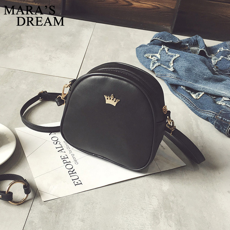 Mara's Dream 2019 New Women Bag Imperial Crown Women Messenger Bag Small Shell Crossbody Bag PU Leather Fashion Designer Handbag