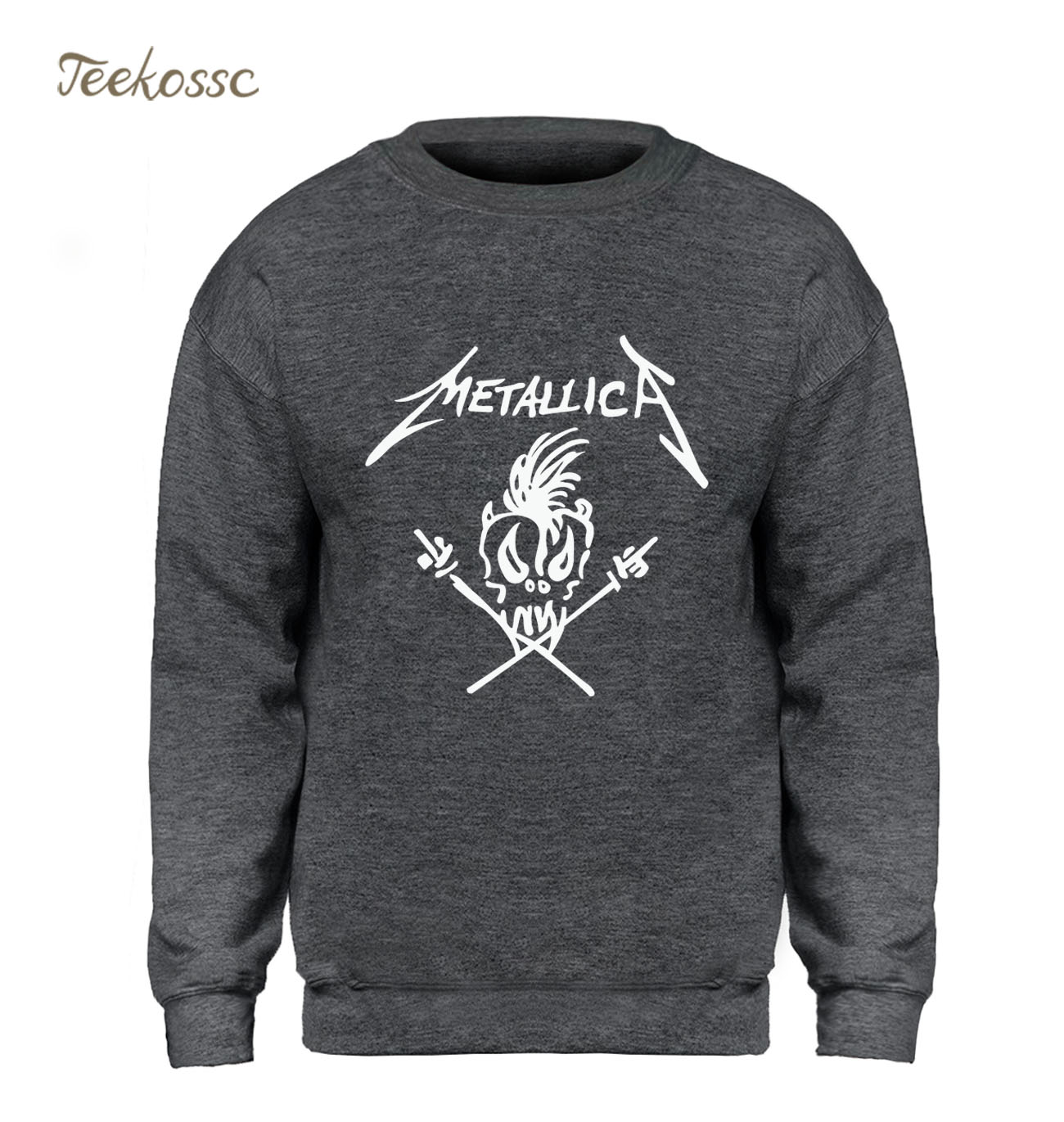 Music Band Punk Rock Hoodie New Fashion Sweatshirt Men Kpop Crewneck Sweatshirts Fleece Warm Hip Hop Sportswear