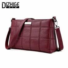 Dizhige marke 2017 mode gewinde crossbody taschen plaid pu-leder taschen frauen handtaschen designer umhängetaschen damen sac frühling
