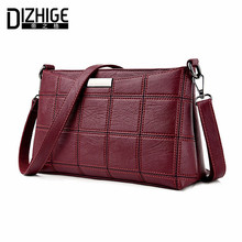 DIZHIGE Brand 2017 Fashion Thread Crossbody Bags Plaid PU Leather Bags Women Handbags Designer Shoulder Bags Ladies Sac Spring