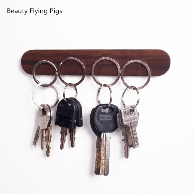Wall Wood Key Holder 4