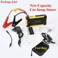 2017 Hot Selling 16000mAh Petrol Diesel 12V Car Jump Starter Mini 4USB Power Bank Mini Compass SOS Light 600A Peak EPS Free Ship