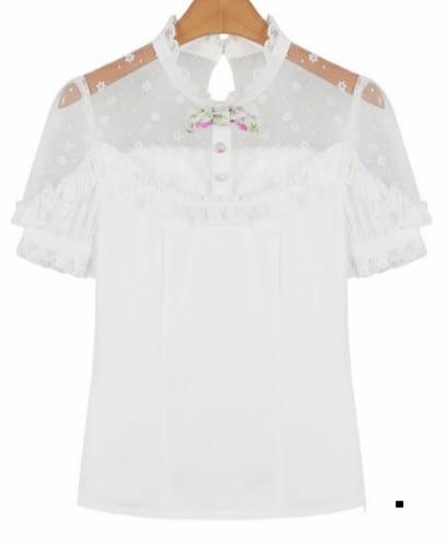 Милые шорты принцессы в стиле Лолиты; Яркие летние шорты в японском стиле с цветочным принтом и бантом; шорты-фонарики на высокой талии; C15AB5711 - Цвет: shirt