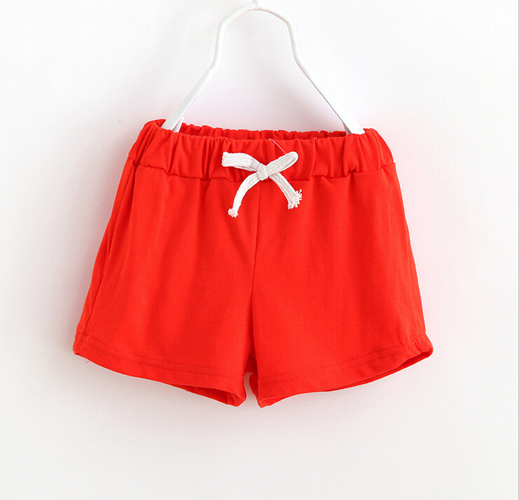 2017 Neue Heiße Verkauf Sommer Kinder Baumwolle Shorts Jungen Mädchen Shorts Baumwolle Candy Farbe Kleidung Babykleidung Kinder Shorts