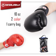 PU Leather Sport Fitness Boxing Kickboxing Training Fighting Sandbag Gloves Boxing Gloves 10 oz for Fighters with Nice Carry bag