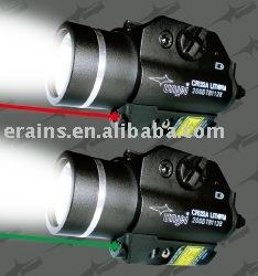 New improved version of green laser sight or laser aimer and 200 lumens LED strobe function light combo