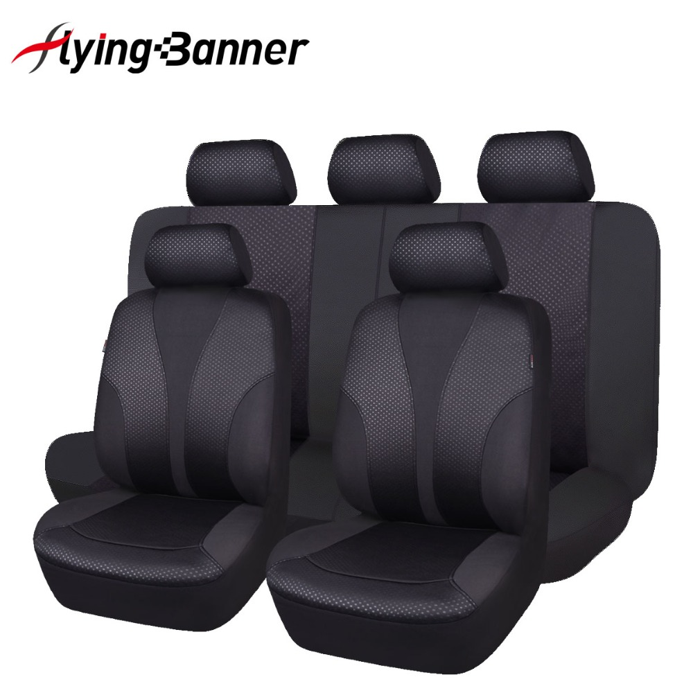 2019 New Update 9 Pcs Black Car Seat Cover Universal Easy