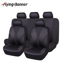Flying Banner 9 PCS Black Car Seat Cover Universal Easy Install Front Seats Bench Automobiles Seat Covers Car Seat Protector