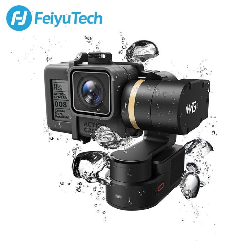 FeiyuTech Feiyu WG2 Montável 3-eixo Cardan Estabilizador para GoPro À Prova D' Água Wearable 6 4 5 Sessão YI 4 k SJCAM Câmera Ação AEE