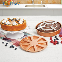 TopFeng Copper Chef Perfect Cake Pan 3 PC set BOGO- (2) 9 X 9 Cake Pan   with 2 Magic Middle Pockets and 2 Magic Middle Cake magic cake box