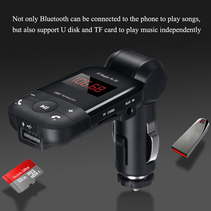 Music Control 2019 Hands-Free Calling for Huawei Y9 FM Transmitter for Car Bluetooth Wireless 2.1A USB Charger with MP3 Player or AUX Cable Support SD/TF Card