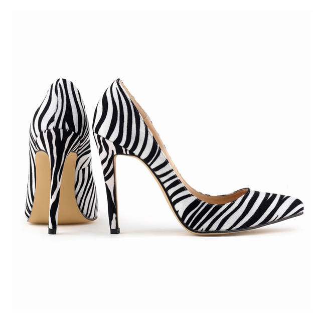 85260b269 LOSLANDIFEN Classic Sexy Pointed Toe High Heels Women Pumps Shoes Zebra  Spring Brand Wedding Pumps Big Size 35 42 302 1Zebra-in Women's Pumps from  Shoes on ...