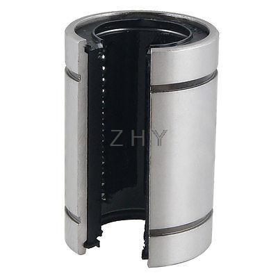 LM250P 40 mm diamètre extérieur Ton Argent Noir Linear Motion Ball Bearings