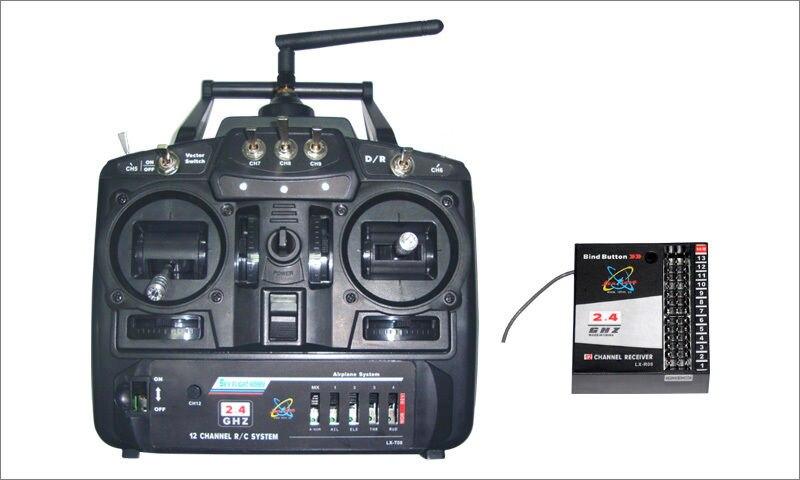 LX Skyflight 2.4Ghz 12 Channels RC Radio Controller Transmitter Receiver For Propeller EDF Gilder RC Planes