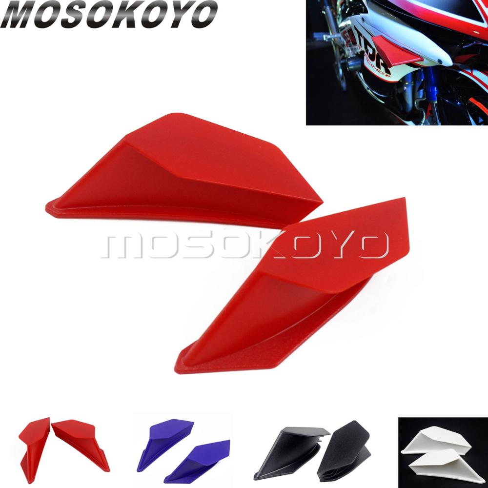 Scooter Red 2pcs Aero Dynamic Wing Kit Fixed Wing for Honda CBR 600RR 1000RR <font><b>VFR</b></font> NC Suzuki GSXR <font><b>750</b></font> Aerodynamic Winglet image