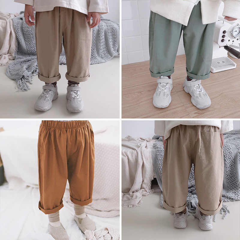 761135ec2 Korean style Autumn Spring simple all-match cotton casual pants for baby  boys and girls