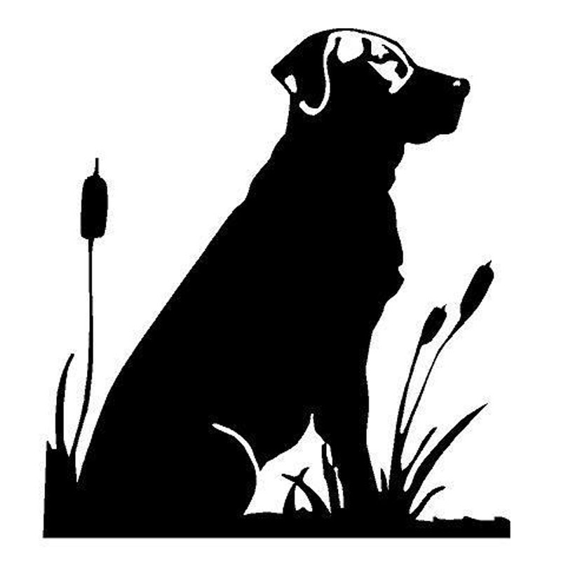 136149cm lab cattails hunt dog labrador retriever stickers creative fashion car window decal c6 1180 in car stickers from automobiles motorcycles on