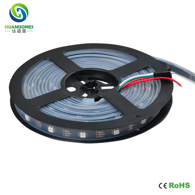 5m/roll 30leds/m 30pixels/m Ws2812b Led Strip 5050 Ws2812 Digital Pixel Rgb Led Tape Dc5v Waterproof Silicon Tube Ip67 Black Pcb Led Lighting