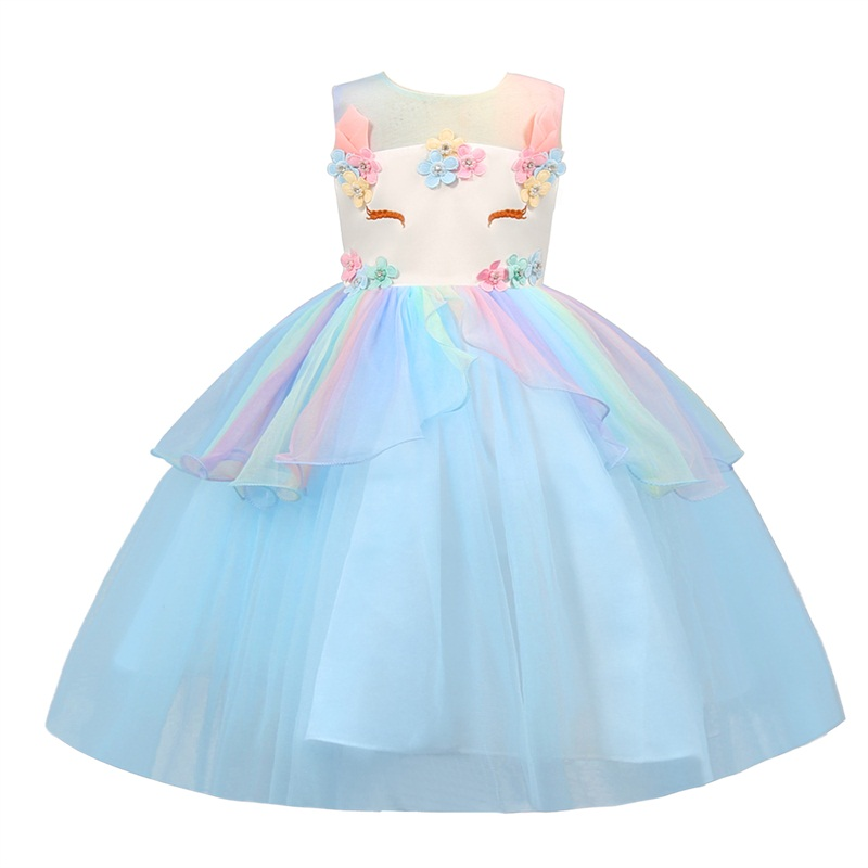 unicorn party dress kids dresses for girls summer clothes