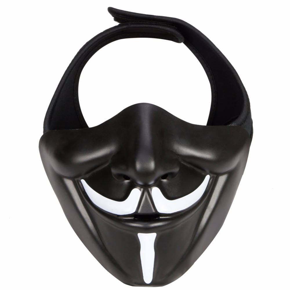 Airsoft Paintball V Mask Goggles Hannya Mask Halloween Mask Army BB Gun Paintball V-mask CS Hunting Accessories Party Prop