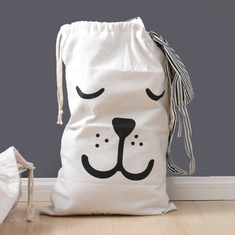 Send From USA Household Home Baby Toy Storage Bags Bear Laundry Hanging Drawstring Pouch Bag Living Room Storage Organization