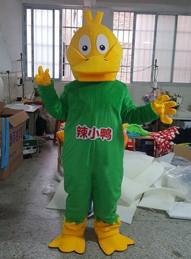 Advertising Big Yellow Duck Mascot Costume Cartoon Animals Adult Fancy dress @