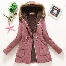 Пальто женское зимнее плотное пальто теплое с капюшоном Карманы Тонкий искусственный мех парка куртка женская