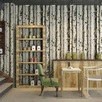 beibehang Modern Chinese style wood tree pattern tea tree bark wallpaper retro wood birch forest wallpaper for walls 3 d