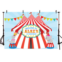 Carnival Circus Party Photography Backdrop Bunting 1st Birthday Backgrounds Photocall Vinyl Background