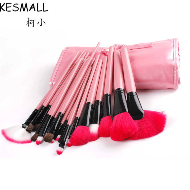 KESMALL 24Pcs Professional Makeup Brushes Set Eyeshadow Eyeliner Lip Eye Make up Brushes Pincel Maquiagem Tools With Bag CO373 24pcs professional makeup brushes eyeshadow eyeliner cream make up brushes brocha maquillaje with bag make up for you brush drop