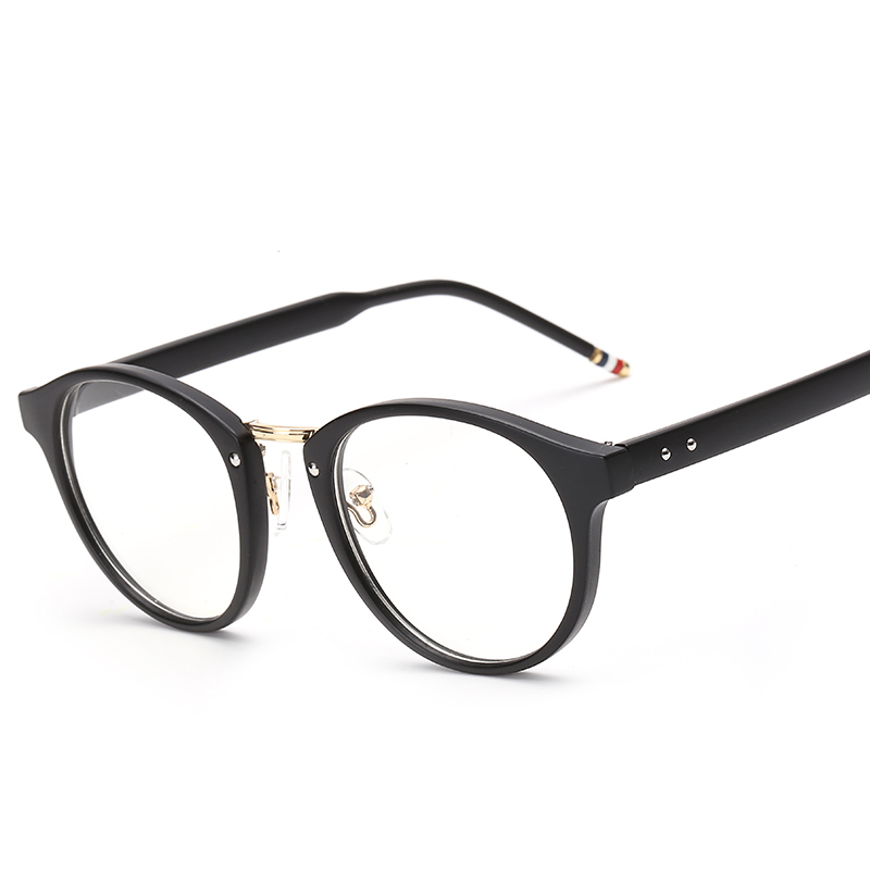 peekaboo new metal gold luxury brand eyeglasses frame women pink clear lens rivet brand spectacle frames