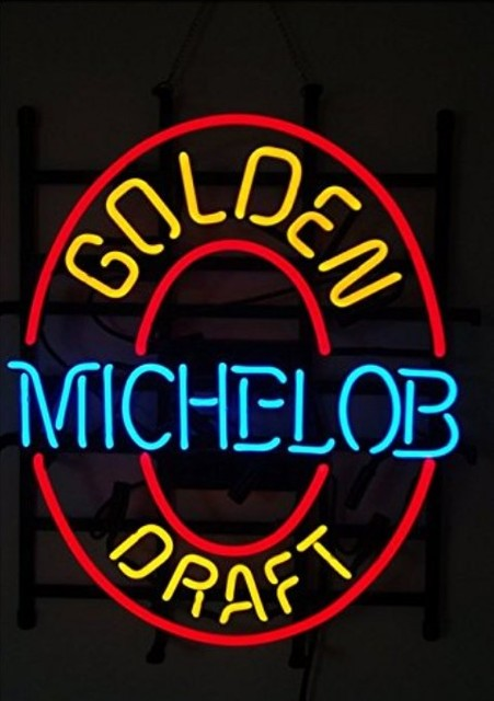 Custom Michelob Golden Draft Glass Neon Light Sign Beer Bar