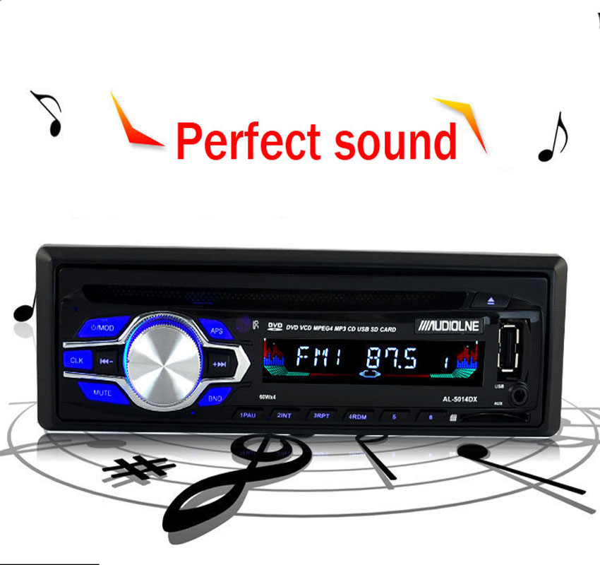 New 1 din 12V Car radio bluetooth DVD VCD CD tuner Stereo FM MP3 Audio Player Phone USB/SD MMC Port Car audio bluetooth 1 DIN 2 din car radio mp5 player universal 7 inch hd bt usb tf fm aux input multimedia radio entertainment with rear view camera