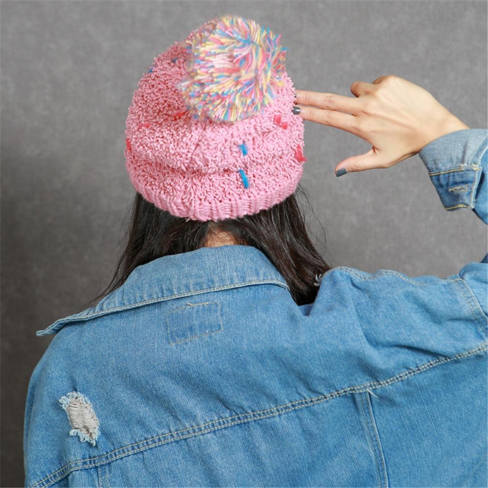 2017 New Fashion Woman's Warm Skullies Winter Hats Knitted Cap For Woman Female Ladies Soft Beanies Bonnet Homme Gorro skullies