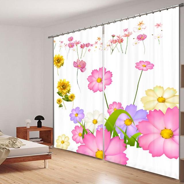 Modern luxury fantasy pink flowers 3d blackout window curtains for modern luxury fantasy pink flowers 3d blackout window curtains for bedding room living room hotel drapes mightylinksfo