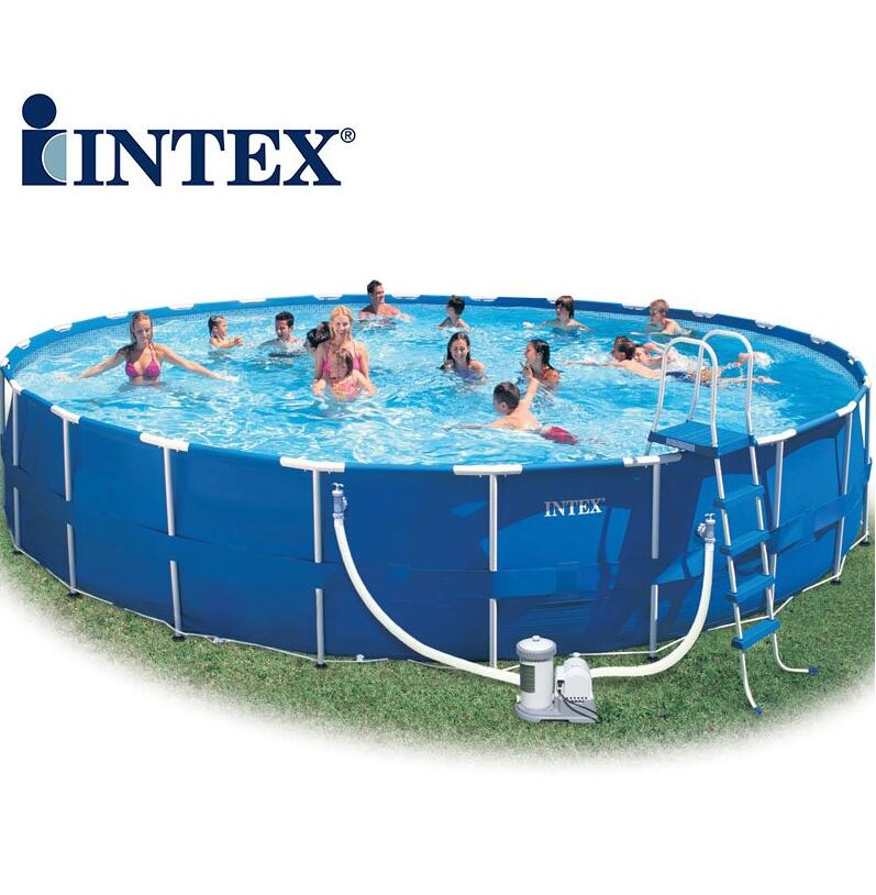 все цены на INTEX 56952-18 'family swimming pool frame / bracket Pool Deluxe Pool Set 549 * 122CM онлайн