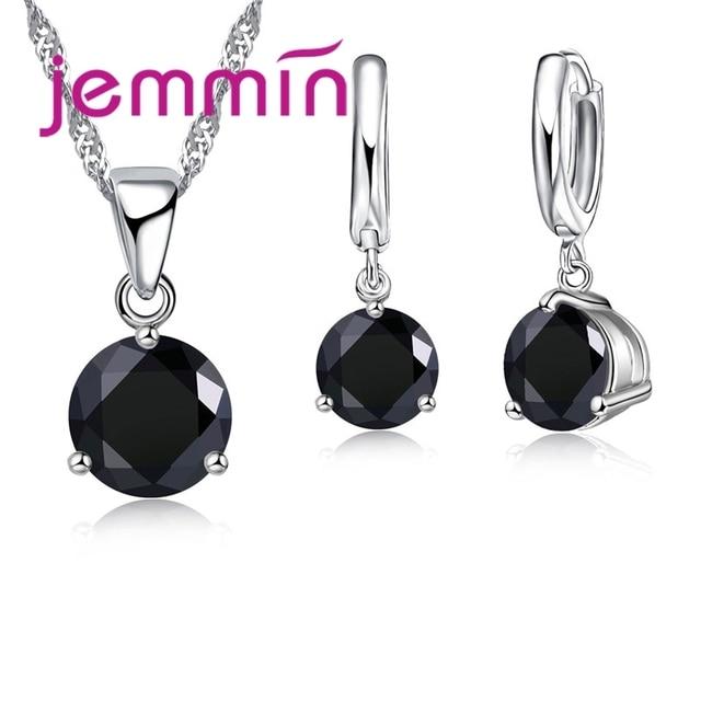 61e88d3df669 Jemmin envío rápido 925 plata esterlina Bodas compromisos COLLAR COLGANTE  pendientes conjuntos para mujer joyería