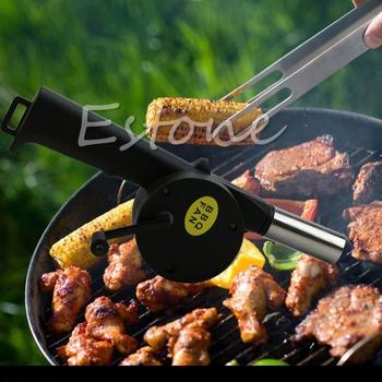 2016 najnowszy 1pc nowy wentylator BBQ wentylator ręczny łukowaty piknik na świeżym powietrzu Camping BBQ dmuchawa grill ogień tanie i dobre opinie OOTDTY Lighters Łatwo czyszczone Other Nie powlekany sbD13464 Narzędzia