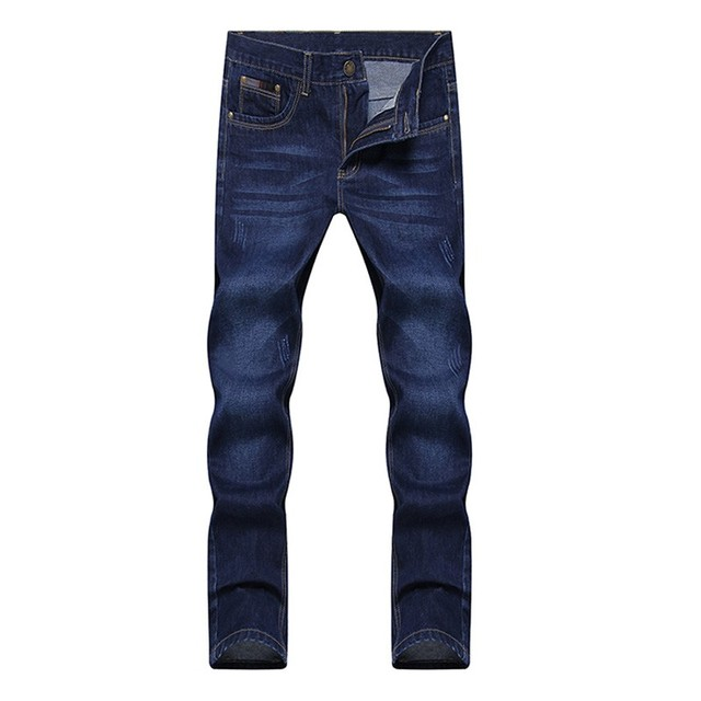 2019 four seasons New style men s casual High Quality Slim Fit Trousers elastic men Jeans