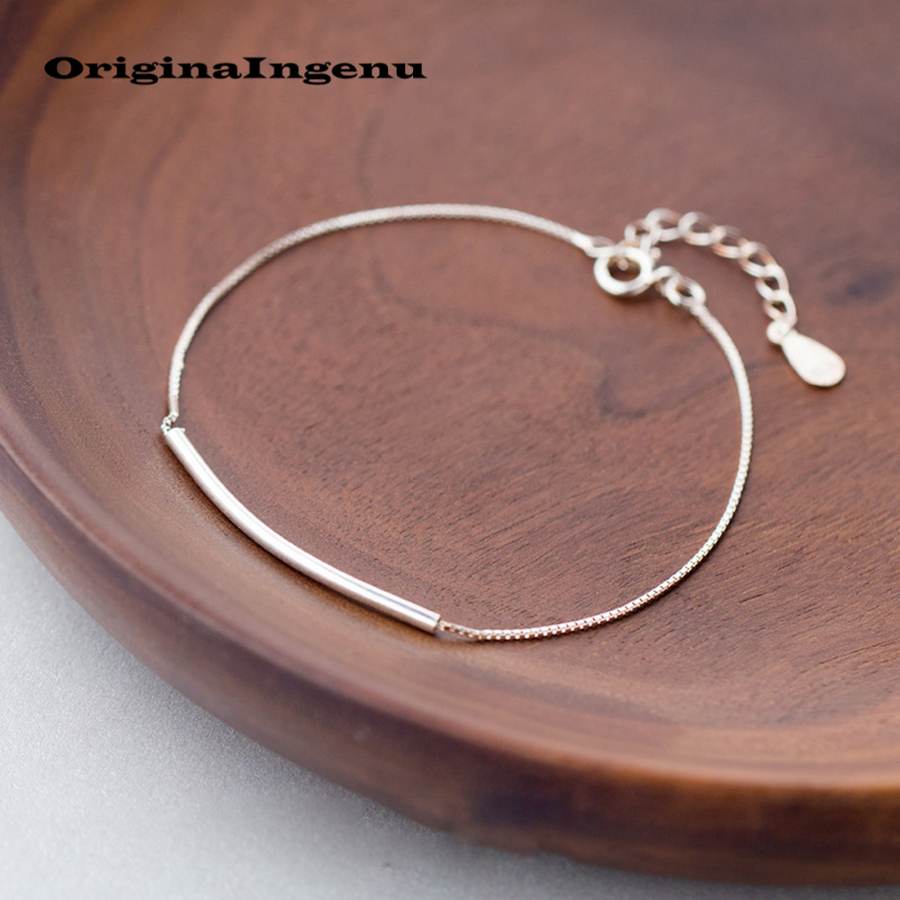 Jewelry 925 Silver Bracelets Bangles Minimalism Charms Vintage Boho Birthday Gift Original Indian Jewelry Bracelets for Women