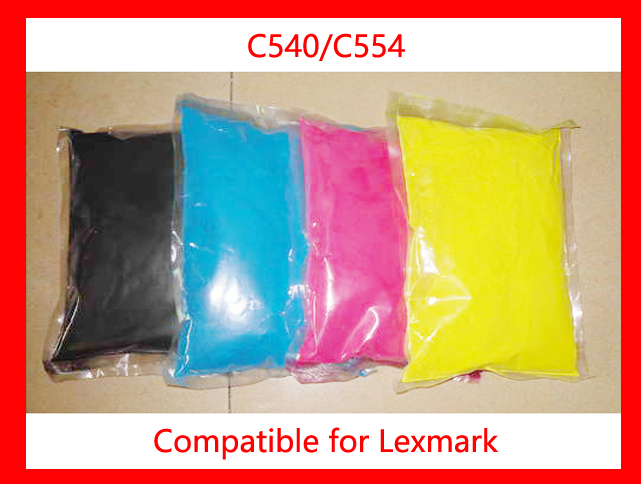 High quality color toner powder compatible Lexmark C540/544 Free Shipping compatible lexmark c540 c543 toner powder use for toner lexmark c 540 543 toner refill bulk toner powder for lexmark c544 c546