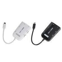 5Gbps Super Speed 3 Ports USB 3.0 Combo Hub Adapter USB 3.0 Type-C OTG HUB + Micro SD TF Card Reader Adapter Converter