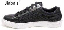 Jiabaisi повседневная обувь 2017 мужская oxfords мокасины Ежедневно мода металл узелок обувь специальная ткань кожа обувь АБ