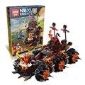 544 unids lepin nexus caballeros magmar general máquina de asedio de la fatalidad de bloques de construcción de juguete