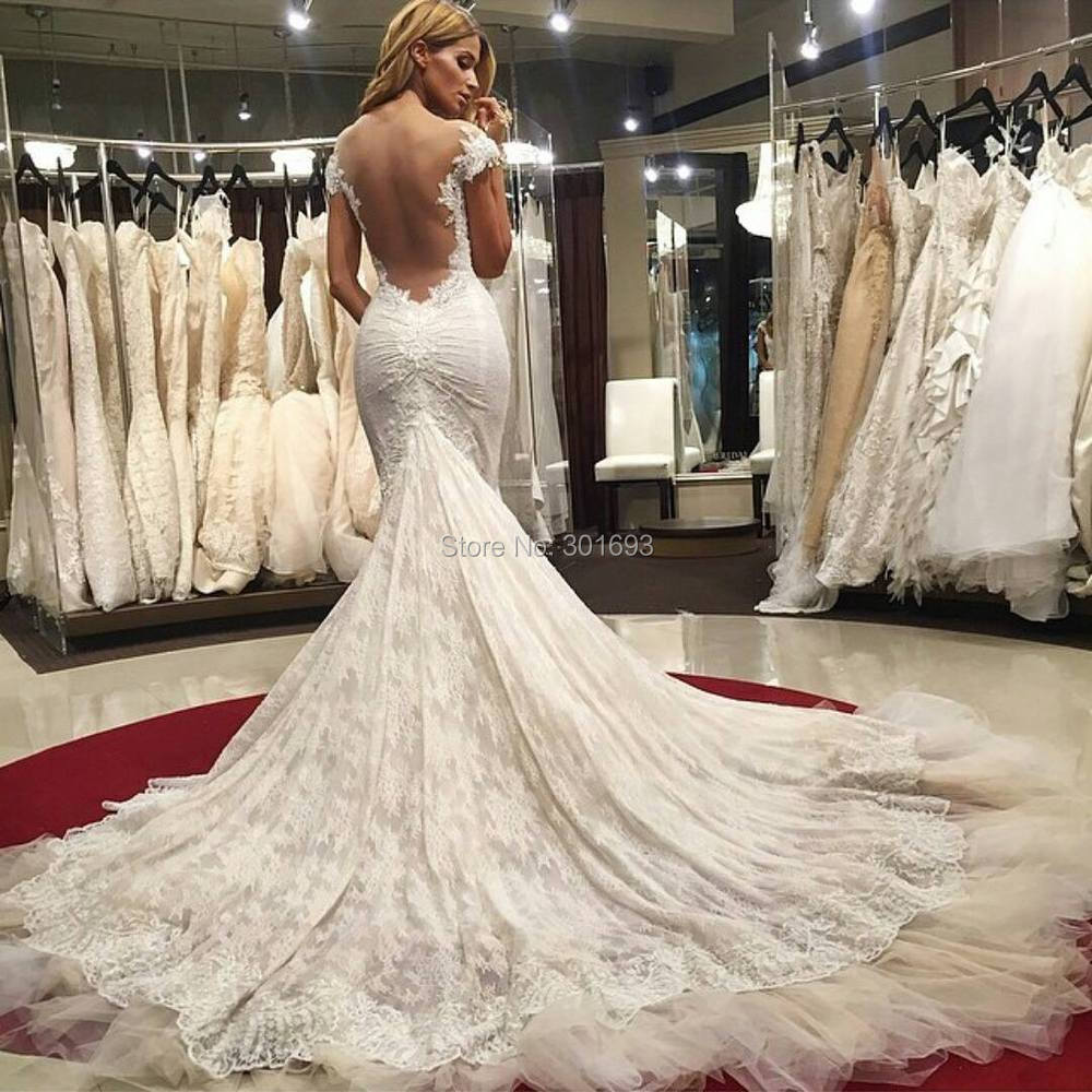 Low Back Mermaid Wedding Dress