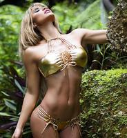 2016 Halter Padded Bikini Strappy Bikini Bandage Swimwear High Cut Swimsuit Bandage Bathing Suit Brazilian Bikini