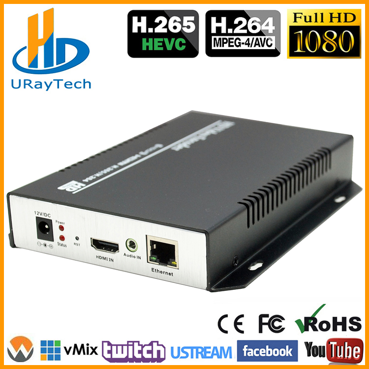 DHL Free Shipping HEVC HDMI Encoder IPTV H.265 /H.264 Hardware HD Video Pentru a IP Encoder Suport HTTP, RTSP, RTMP, UDP, ONVIF