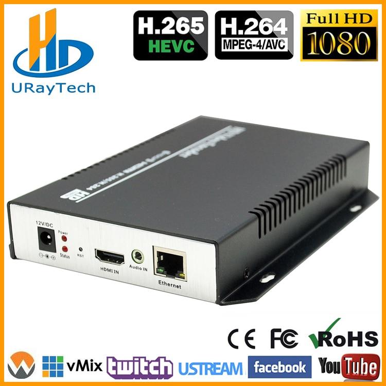 DHL libera el envío HEVC HDMI Codificador IPTV H.265 / H.264 Hardware HD Video a IP Codificador Soporte HTTP, RTSP, RTMP, UDP, ONVIF